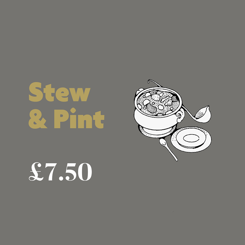 Stew & Pint for £7.50
